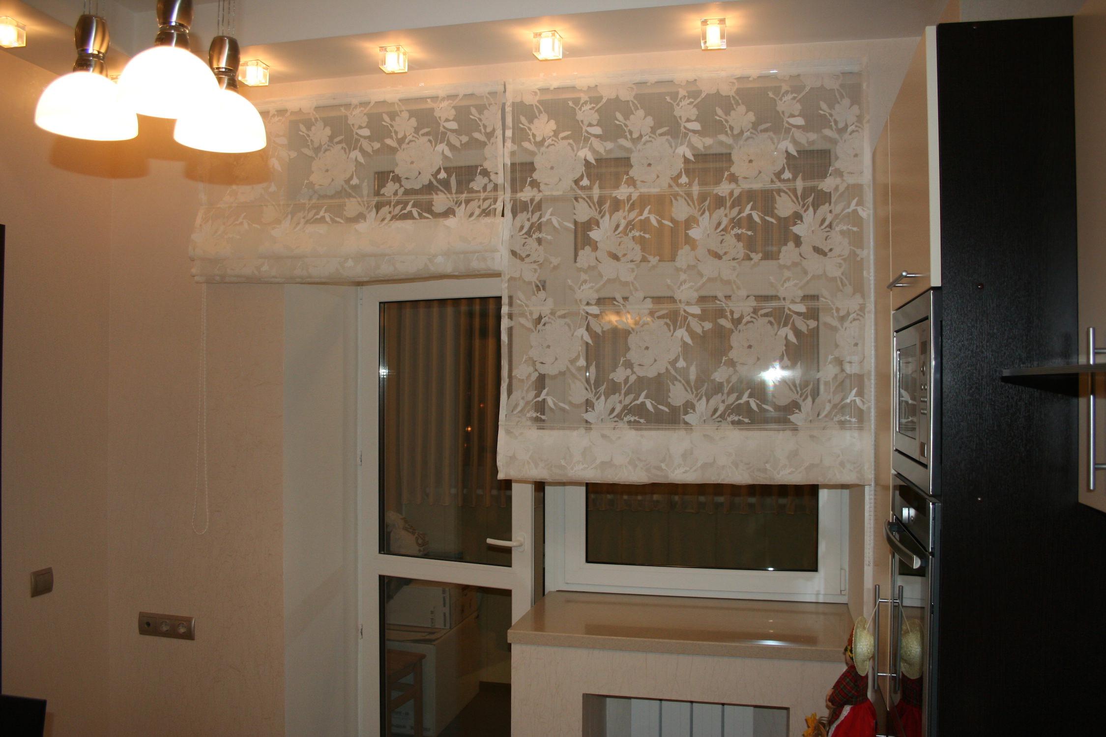 Римские шторы своими руками на кухне фото